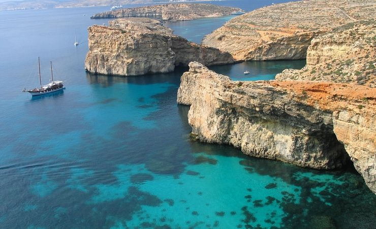 """Gozo Cliffs Aerial View"""