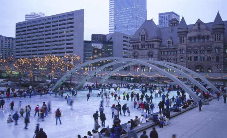 """Ice Skating In Nathan Philipps Square"""