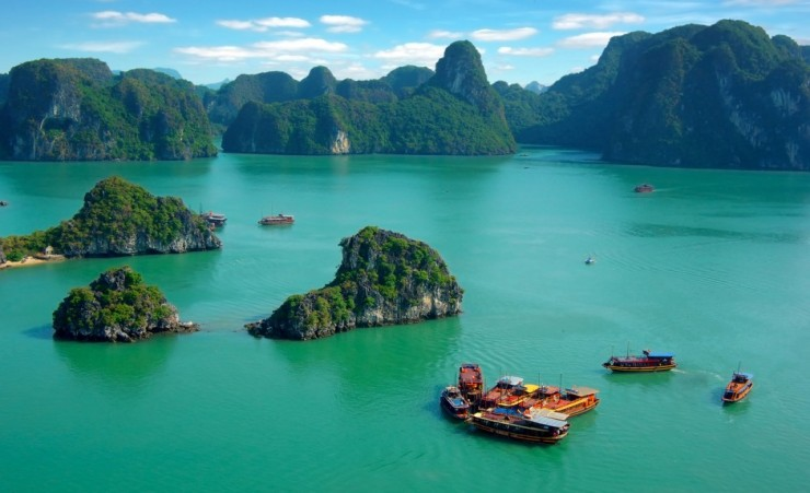 """Halong Bay From The Air"""