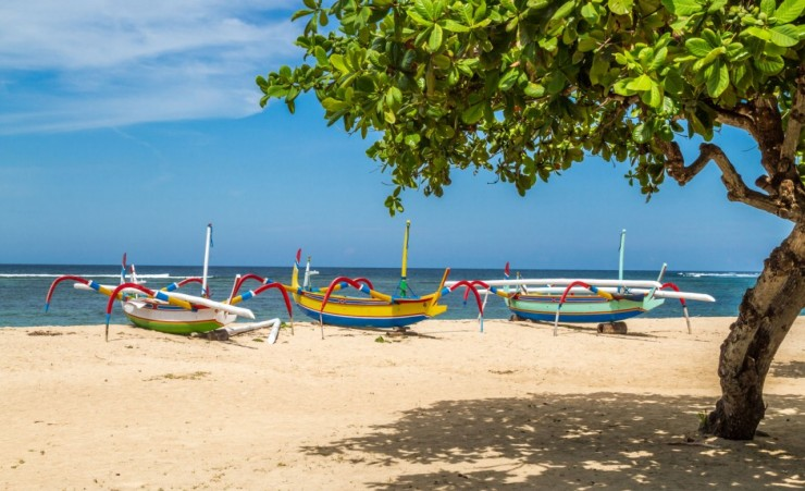 """Boats On Sanur Beach"""