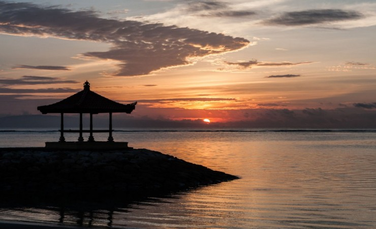 """Sunset Over Sanur Beach"""