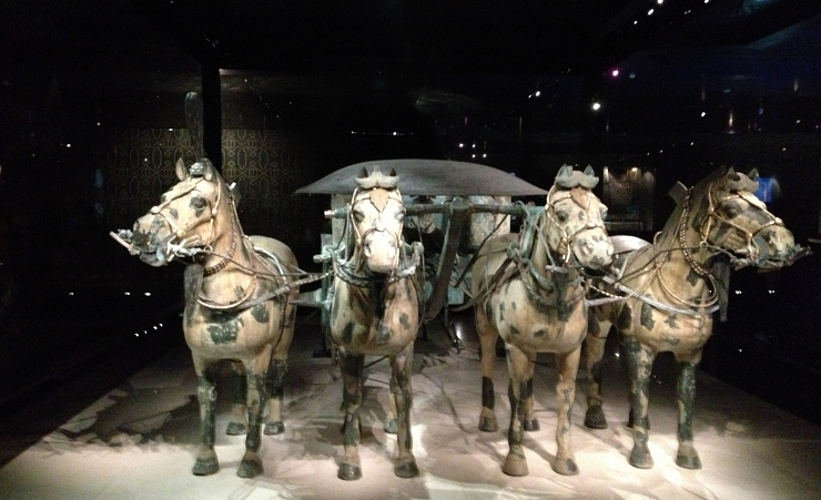 """Terracotta Army Horse and Carriage"""