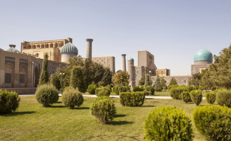 """The Madrasahs Of Registan Square In Samarkand"""
