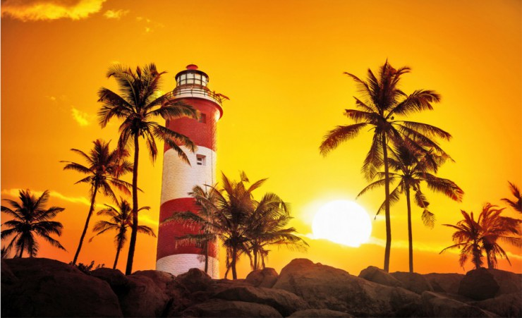 """Lighthouse At Kovalam"""