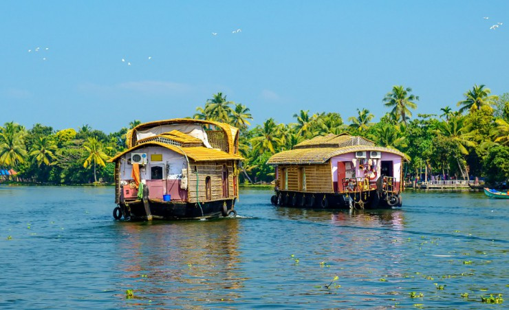"""Traditional Houseboats In Kerala"""