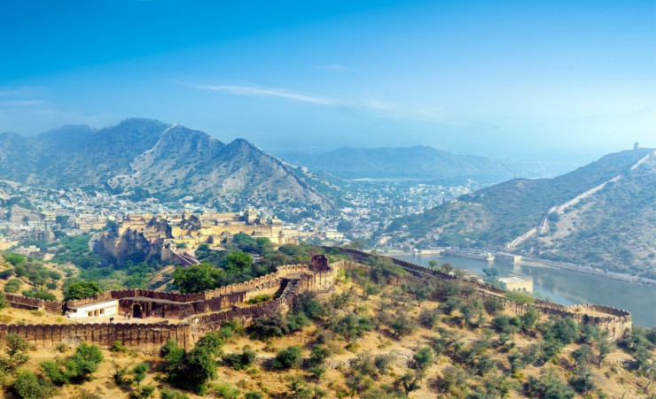 """View Over The Amber Fort Jaipur"""
