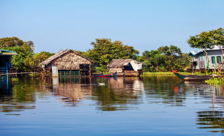 """Floating Houses On Tonle Sap Lake"""