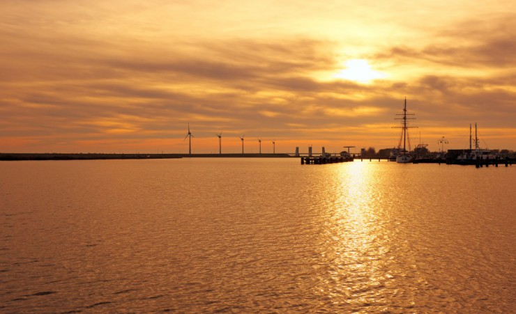 """Sunset Over The Ijsselmeer"""