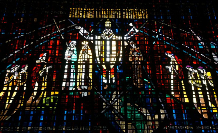"""Stained Glass At Notre Dame De Loudes   Casablanca"""