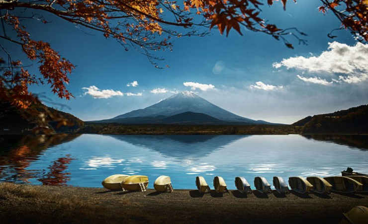 """Hakone With Mount Fuji In Background"""