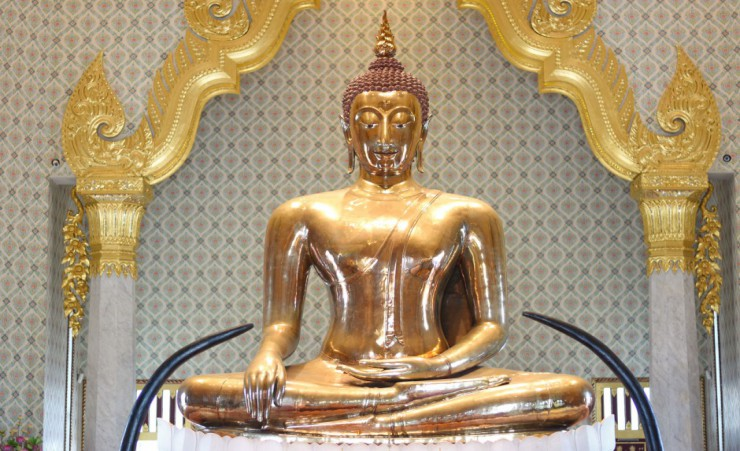 """Golden Buddha, Wat Traimit, Bangkok"""