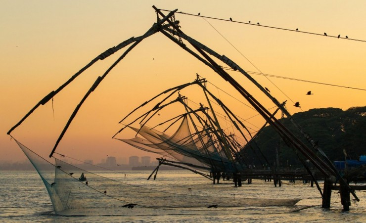"""Fishing Nets Near Cochin Fort"""