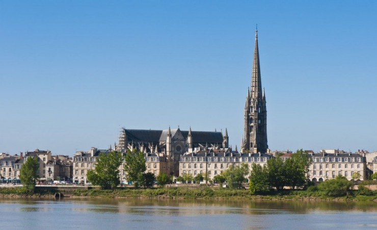 """Fleche Of Saint Michel From The Garonne River"""