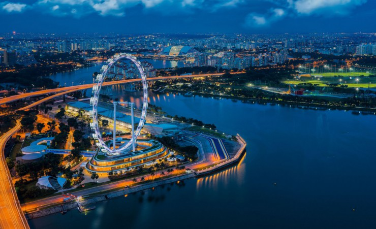 """Skyline With Singapore Flyer"""