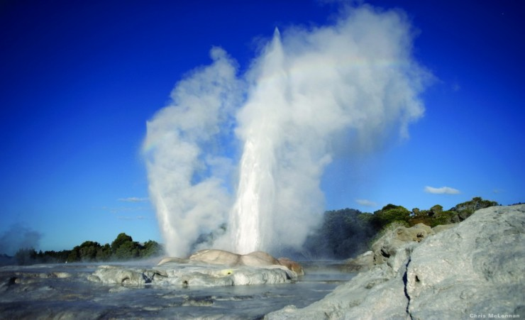"""Geothermal Activity In Rotorua"""