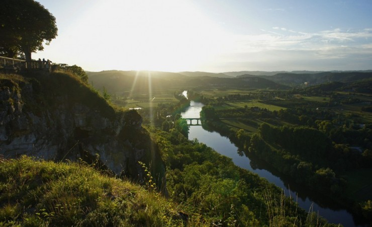 """View Of The Dordogne River"""