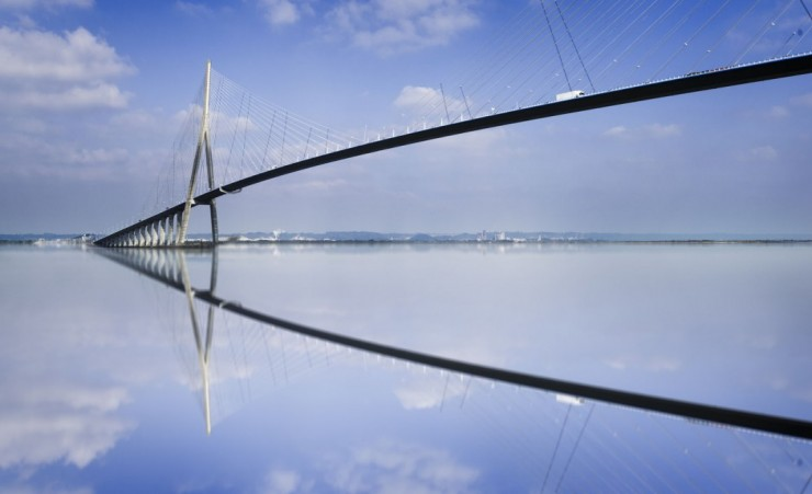 """Pont De Normandie Over The Seine"""