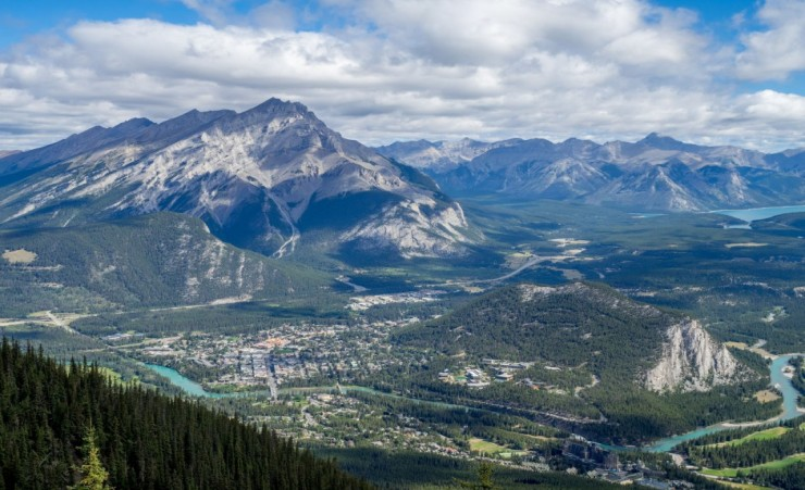 """Banff Town From Sulphur Mountain"""