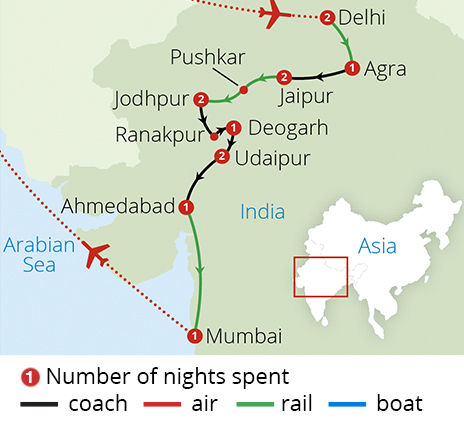 Rail Journey Map