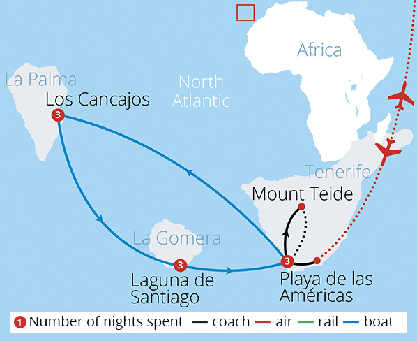 Canary Island Hopping Route Map