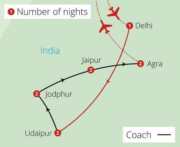 Beyond India's Golden Triangle Route Map