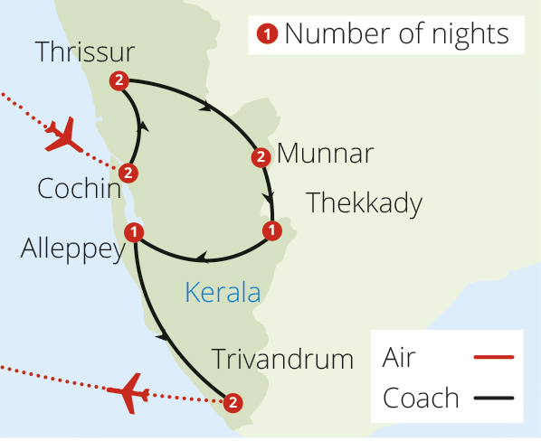 Kerala Explorer Route Map