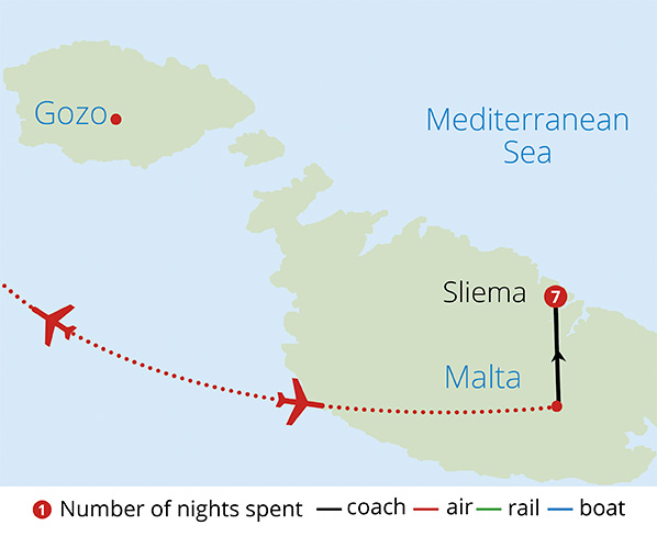 Historical Malta Route Map