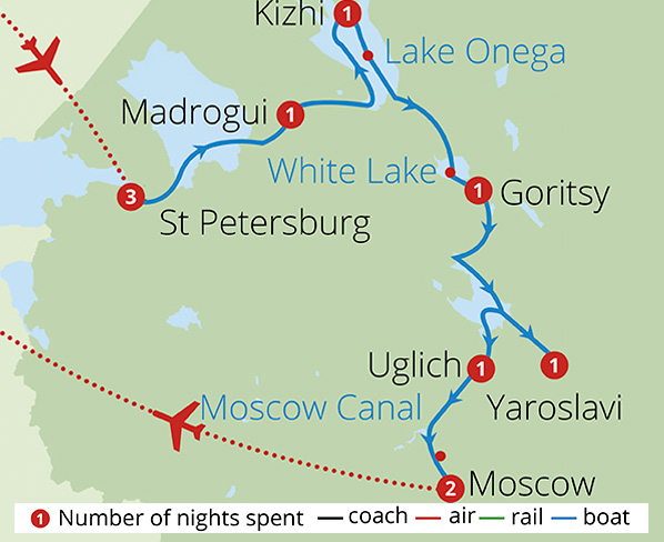 Tsars Tolstoy and Russia's Mighty Volga Route Map