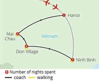 Walking Trails of Vietnam Route Map